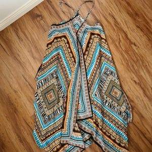 TEMT Size 10 Multicolored Pattern Maxi Boho Summer Dress   Summer Beach Clothes
